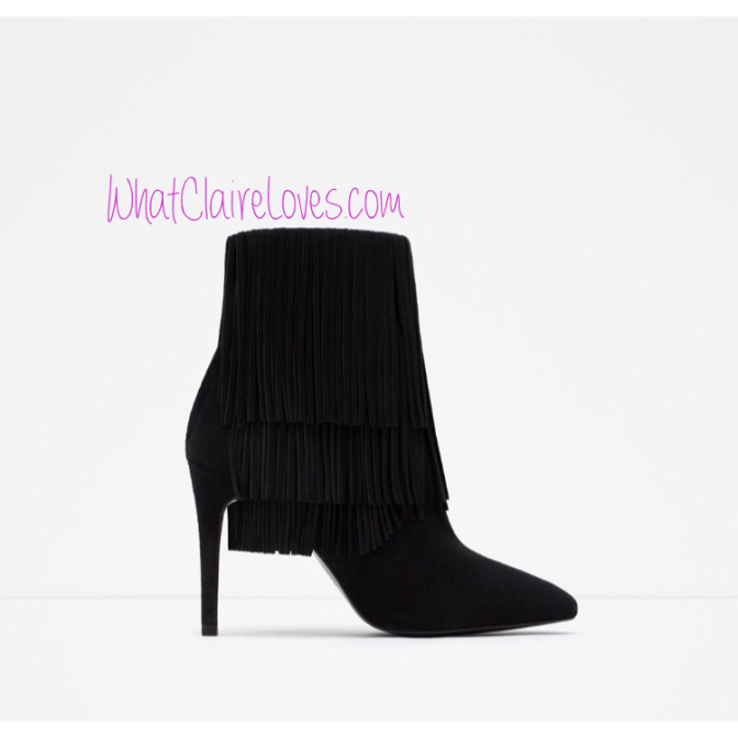 Shoe of the Week – Zara Fringe Boots